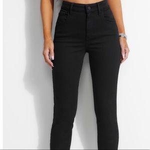 Super High Rise Guess Black Skinny Jeans
